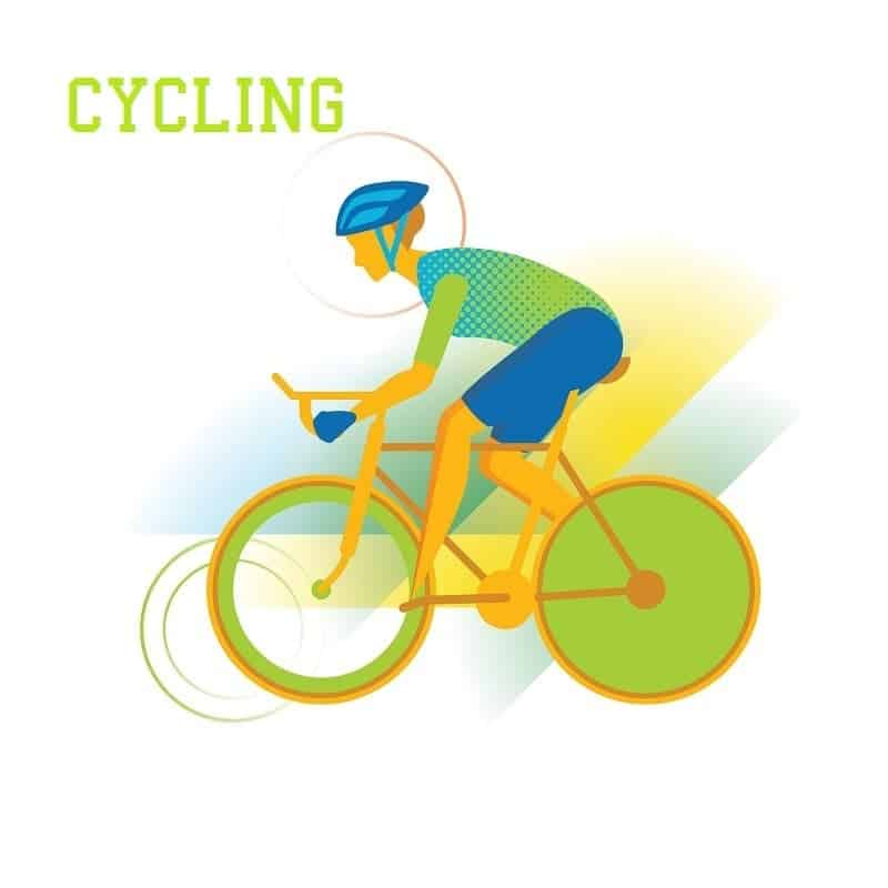 Person Cycling Vector