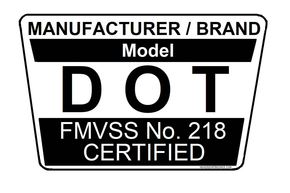 DOT certified sticker example